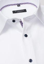 Eterna Langarm Hemd Comfort Fit Popeline Weiss Unifarben