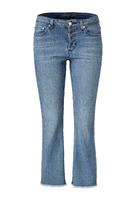 Jeans, Cropped, Bootcut, Feminin, Baumwolle