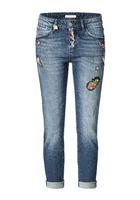 Jeans, Mit Liebevollen Bestickungen Und Patches, Modisch, Baumwolle