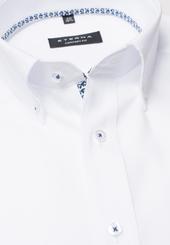 Eterna Kurzarm Hemd Comfort Fit Popeline Weiss Unifarben