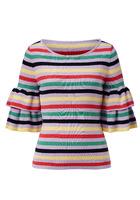 Pullover, Mit Multicolor-ringel