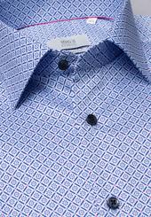 Eterna Langarm Hemd Comfort Fit Twill Hellblau Bedruckt