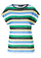 T-shirt, Farbenfrohe Blockstreifen