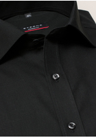 Eterna Langarm Hemd Modern Fit Popeline Schwarz Unifarben