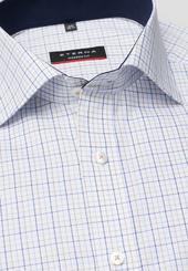Eterna Kurzarm Hemd Modern Fit Oxford Blau/beige Kariert