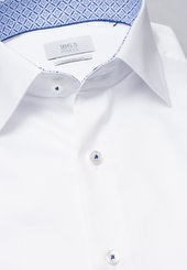 Eterna Langarm Hemd Comfort Fit Gentle Shirt Twill Weiss Unifarben