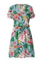 Kleid, Mit Blumen - Und Streifen-druck