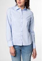 Eterna Langarm Bluse Modern Classic Blau Unifarben