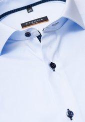 Eterna Langarm Hemd Slim Fit Stretch Hellblau Unifarben