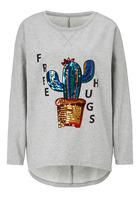 Sweatshirt, Mit Paillettenbesetzer Kaktus-druck