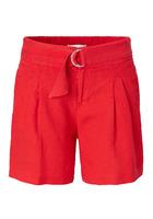 Shorts, High Waist, Casual, Leinen