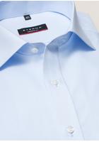 Eterna Langarm Hemd Modern Fit Popeline Hellblau Unifarben