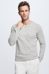 Rundhals-pullover K-carter, Grau Melange