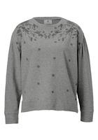 Sweatshirt, Im Romantik-look