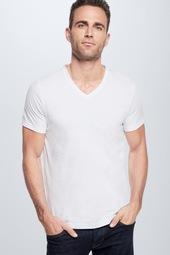 Cotton Stretch T-shirt 2er Pack, Weiß