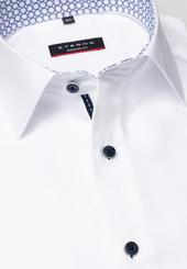 Eterna Langarm Hemd Modern Fit Oxford Weiss Unifarben