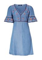 Kleid, Mit Bestickungen