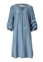 Kleid, Mit Raffungen Am Ärmel