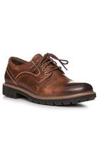 Clarks Batcombe Hall Dark Tan Leather 26127551g
