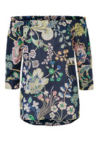 Bluse, Mit Floralem Muster
