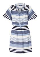 Kleid, Mit Streifendruck