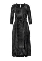 Kleid, In Midi-länge Mit Punkte Druck