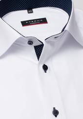 Eterna Kurzarm Hemd Modern Fit Pinpoint Weiss Unifarben