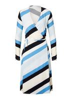 Jerseykleid, Mit Schräg Verlaufenden Blockstreifen