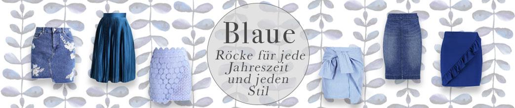 Blå nederdele samt tekst på mønstret baggrund